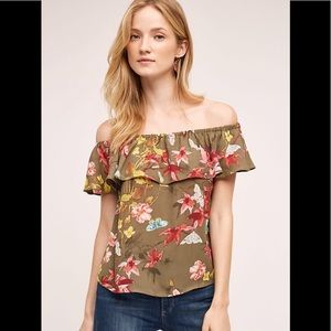 Anthropologie Maeve off-shoulder blouse